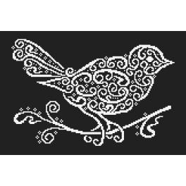 Cross stitch pattern - Lace bird