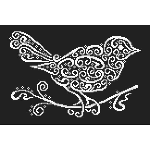 Cross stitch pattern - Lace bird
