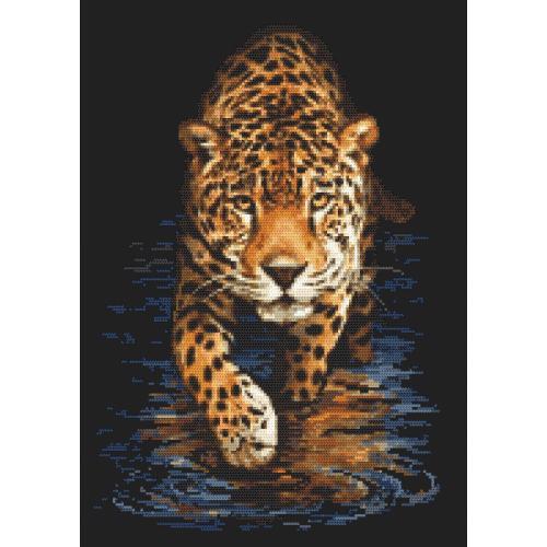 Cross stitch pattern - Panther - night hunting