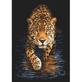 K 10167 Tapestry canvas - Panther - night hunting
