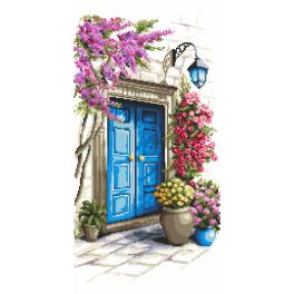 ZI 10207 Cross stitch kit with mouline and beads - Mysterious door