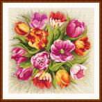 Tapestry canvas - Charming tulips