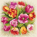 Kit with tapestry and mouline - Charming tulips