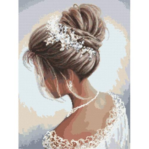 Cross stitch kit - Lady in white