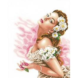 LPN-0144530 Cross stitch kit - Lady of the camellias