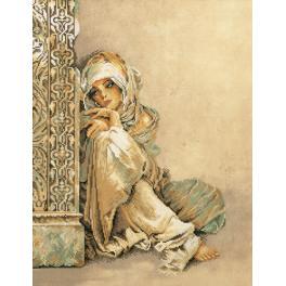 LPN-0008001 Cross stitch kit - Arabian woman