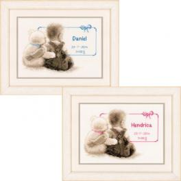 VPN-0021672 Cross stitch kit - My favorite teddy