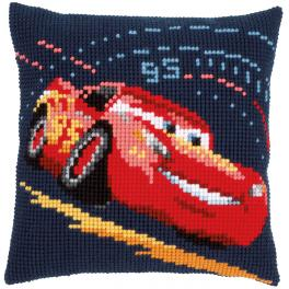 VPN-0166441 Cross stitch tapestry kit - Cushion - Lightning McQueen