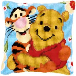 Cross stitch kit - Pillow - Winnie and Tigger