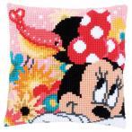 Cross stitch kit - Pillow - Minnie has secret