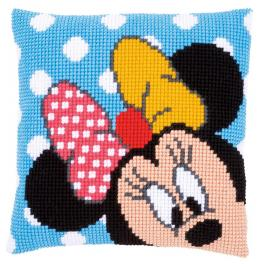 VPN-0167234 Cross stitch tapestry kit - Cushion - Minnie peek-a-boo