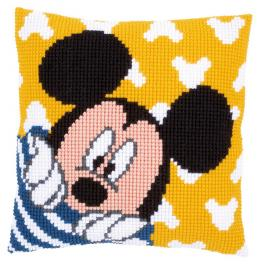 VPN-0167235 Cross stitch tapestry kit - Cushion - Mickey peek-a-boo