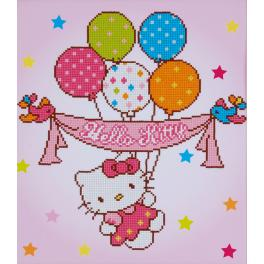 VPN-0175278 Diamond painting kit - Hello Kitty with balloons
