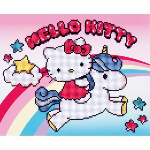 Diamond painting kit - Hello Kitty with unicorn