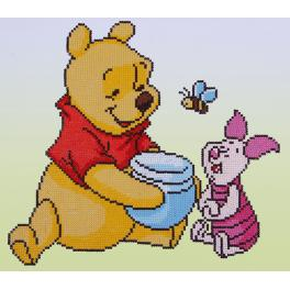 Diamond painting kit - Pooh with Piglet