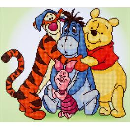 Diamond painting kit - Pooh with friends