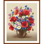 Kit with tapestry and mouline - CField bouquet