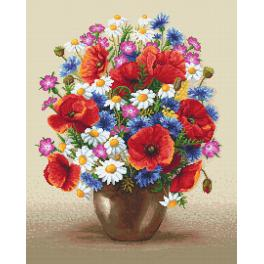 Cross stitch kit - Field bouquet