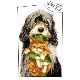 RNL 019 Cross stitch kit - Good friends