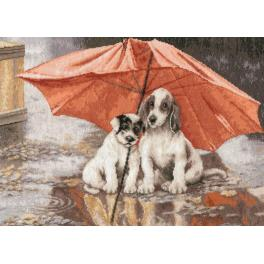 RNL 024 Cross stitch kit - Under the umbrella