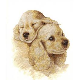 RNL 016 Cross stitch kit- Dogs