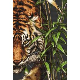Cross stitch kit - Tiger