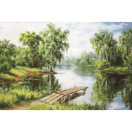 Cross stitch kit - A cool place