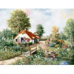 Cross stitch kit - Village landscape