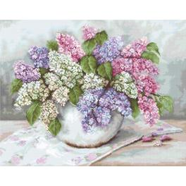 LS BA2326 Cross stitch kit - Lilacs