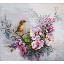 LS B2314 Cross stitch kit - Birdie