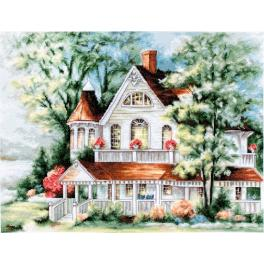 LS BU4000 Cross stitch kit - The lake house