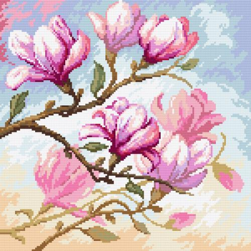 Diamond painting kit - Blooming magnolias