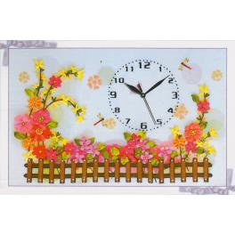 Ribbon kit - Clock with a fence