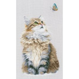 Cross stitch kit - Forest cat