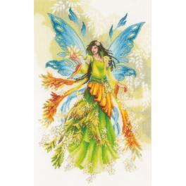 LPN-0175886 Cross stitch kit - Fantasy elf fairy