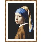 Tapestry aida - Girl with a pearl earing - J. Vermeer