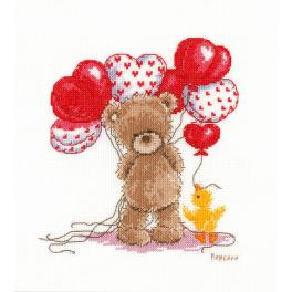 VPN-0143713 Cross stitch kit - Lovely balloons