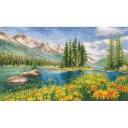 Cross stitch kit - Mountain landscape