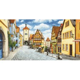 Graphic pattern - Picturesque Rothenburg