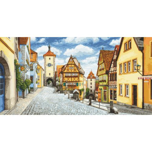 Tapestry aida - Picturesque Rothenburg