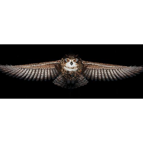 Cross stitch kit - Flying owl
