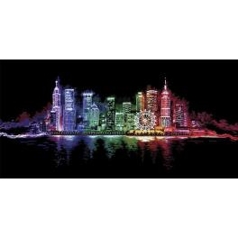 Cross stitch kit - Night town