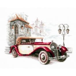 Cross stitch kit - Retro Cadillac