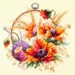 Cross stitch kit - Poppies for needlewoman