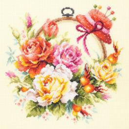 Cross stitch kit - Roses for needlewoman