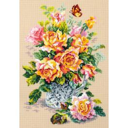 Cross stitch kit - Tea roses