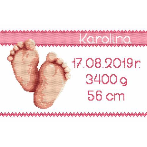 Pattern ONLINE - Birth certificate - girl