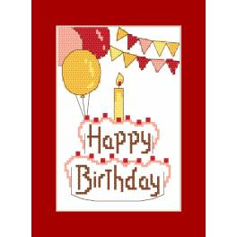GU 8973 Cross stitch pattern - Postcard - Happy Birthday