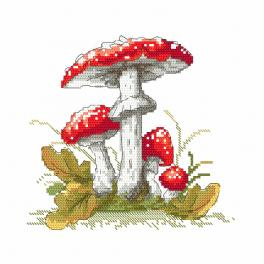 ONLINE pattern - Mushrooms toadstools