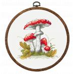 Cross stitch kit - Mushrooms toadstools